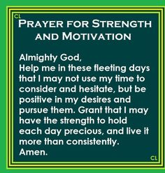 Prayer for Strength and Motivation