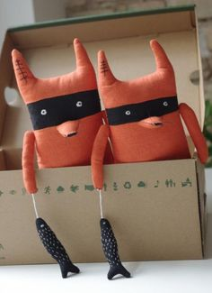 bandit fox by adatine on etsy: adorable!