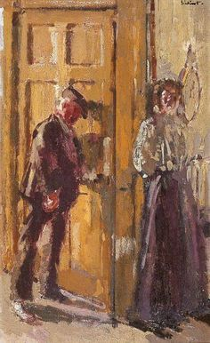 Walter Sickert - Off to the Pub (also known as The Weekend)