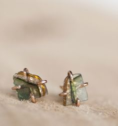 Alexis Russell for Mavenhaus Collective    Tourmaline Landscape Stud Earrings
