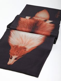 ALEXANDER MCQUEEN, AW11 FOX PRINT SCARF: clever like a... oh.