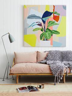 Arte vibrante: Leah Bartholomew pinta a beleza abstrata encontrada em jardins e paisagens da Austrália - Follow the Colours