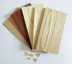 Maak je eigen Wood Veneer Shapes met Wood Veneer 'Papier'!