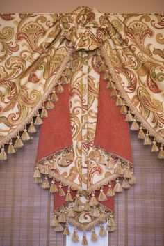 Combination Window Treatments Gallery - Sew Stylish Designs LLC Custom Drapery, Design and Fabrication Rose Curtains, Elegant Curtains, Beautiful Curtains, Classic Curtains, Luxury Curtains, Valance Window Treatments, Custom Window Treatments, Window Coverings, Valance Patterns