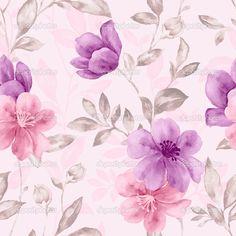 Бесшовный цветочный фон — Стоковое фото #34919149