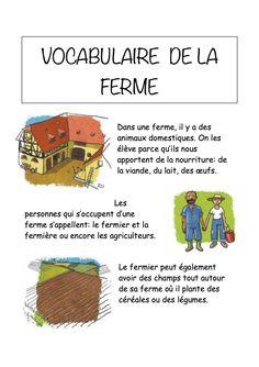Vocabulaire de la ferme Imagier simple pour la maternelle