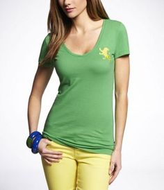 EMBROIDERED BEST LOVED LION TEE at Express