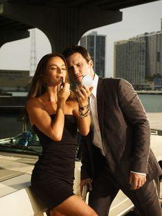 Gabrielle Anwar + Jeffrey Donovan