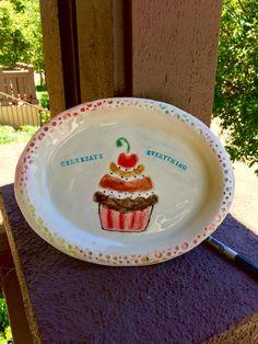 Festive ceramic dessert platter!!!