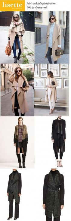 fabric and styling inspiration for Lisette for Butterick sewing pattern B6244: the coat!