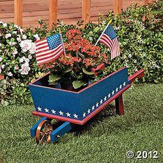 Red, White & Blue Wheelbarrow, via Terry's Village