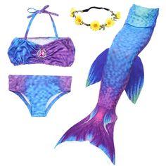 e4e9648944cd4 Swimsuits Mermaid Swimming Fishtail Princess - Bluepurple - CQ184UZIYCE