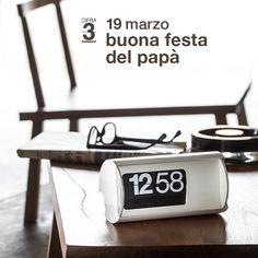 Un augurio speciale a tutti i papà del mondo! #19marzo #festadelpapà #papà #cifra3 #designicon #design #madeinitaly #solarilineadesign #flipclock #iconical