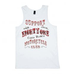 EightyOne White Singlet Support81 Big Red Machine Hells Angels™ - Support81 Store Spain