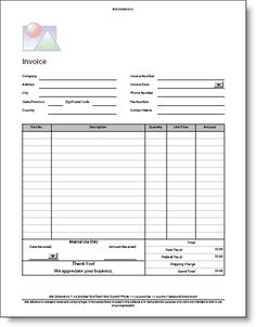 14 best photos of auto repair invoice template printable auto body