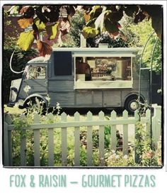 Mouth-melting gourmet pizzas fresh from their wood fired oven in the vintage Citroen van.