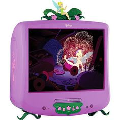 """Disney Fairies 20"""" Color TV/DVD Combo with Digital Tuner and Remote Control Disney Princess Pinterest Party #DisneyPrincessWMT"""