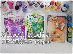 Mixed Media TEXTURE page Tutorial #1