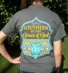 Southern By The Grace of God T-Shirt - Christian Preppy Girlie Style-SC Couture #CoutureTeeCompany #GraphicTee