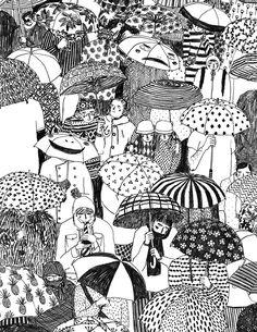 40 Creative Doodle Art Ideas to Practice in Free Time Kunst Inspo, Art Inspo, Art And Illustration, Portrait Illustration, Art Sketches, Art Drawings, Drawing Faces, Doodles Zentangles, Art Sketchbook