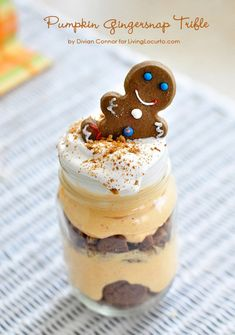 Easy Pumpkin Cheesecake Gingersnap Trifle. #Recipe by Divian Connors for LivingLocurto.com