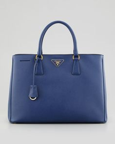 I wouldnt mind it  Saffiano Gardener\'s Tote Bag, Bluette by Prada at Neiman Marcus.