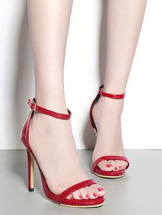 Brief sexy solid peep toe slim heel sandals YS-C5649-Lovelyshoes.net