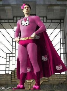HELLO KITTY - SUPERMAN in pink suit