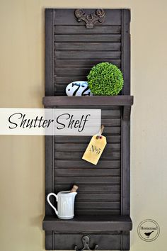Shutter Shelf painte