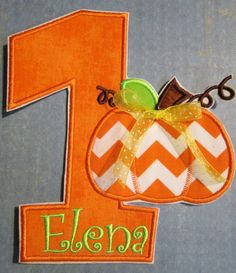 Iron On Applique   Children's Fall or Autumn by bigblackdogdesigns, $9.99