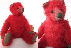 Limerick Bears Red Mohair Artist by aquamarinedream
