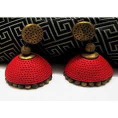 Red terracotta earing - Online Shopping for Earrings by Beautifulclayjewellery
