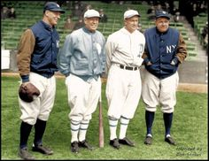 1928 Lou Gehrig, Tris Speaker, Ty Cobb and Babe Ruth