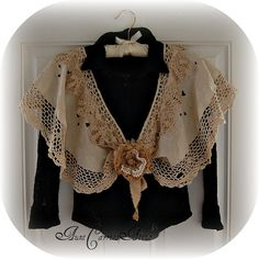 Dolly Kei Capelet V Neck Vintage Laces by auntcarriesattic on Etsy, $85.00