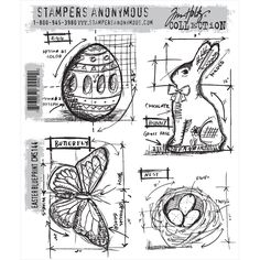"""Tim Holtz """"Stampers Anonymous"""" Stamp Sets"""