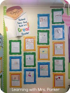 Behind every good book is a great reader - library bulletin board idea