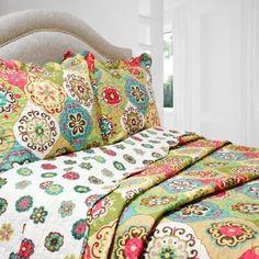 Lena Reversible Quilt Set - BedBathandBeyond.com