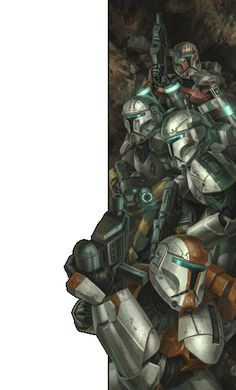 Republic Commandos /by Chris Trevas. It's Delta squad from Karen Traviss's books, Republic Commando, and Clone Wars.