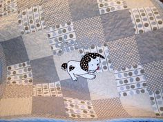 Poky Puppy Patchwork Made To Order Baby Quilt. $165.00, via Etsy.