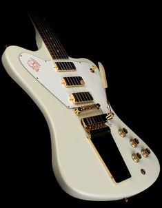 Gibson Custom Shop Non-Reverse Firebird VII Electric Guitar Polaris White - Used | The Music Zoo
