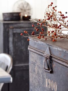 Industrial Style Decor | Metal Trunk