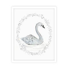 Swan Print $28