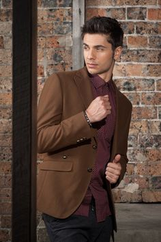 Men's Slim Fit Military Blazer – Brown $129.95 #Blazers&Jackets #www.sieteclothingco.com.au Clothing Co, Blazers For Men, Slim Man, Keep Warm, Blazer Jacket, Military, Suits, Elegant, Brown