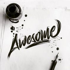 As we always say: Stay AWESOME!!  Like this awesome piece by @luislili  A very creative lettering artist definitely check out his profile for more dope artwork like this!   Feel free to share your work at http://ift.tt/2uLoFk2 #goodtype #ligaturecollective #typographie #typegang #typeyeah #thedailytype #typographyinspired #typespot #typedrawn #greattype #tyxca #slowroastedco #50words #typism #brushlettering #designspiration #calligritype #handdrawntype #calligraphy #typography #lettering…