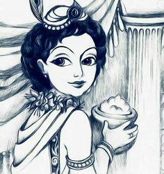 Krishna❣❤ Krishna Flute, Krishna Radha, Lord Krishna, Krishna Drawing, Krishna Painting, Indian Gods, Indian Art, Baby Ganesha, Crystal Background