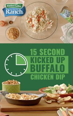 Buffalo Chicken Dip (Baked or Slow Cooker) Dip Recipes, Appetizer Recipes, Chicken Recipes, Appetizers, Cooking Recipes, Love Food, Cooked Chicken, Crispy Chicken, Food To Make