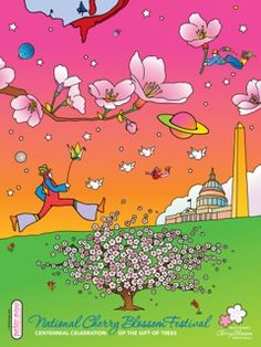 2012 Cherry Blossom Festival - official poster by Peter Max
