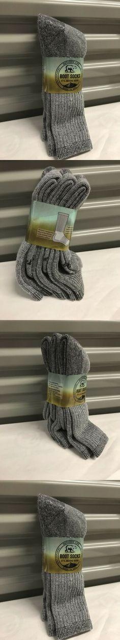 75b63482991bc Socks 11511: 3 Pair Men S Outdoor Life Merino Wool Thermal Boot Socks 10-