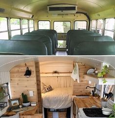 Living and traveling in a campervan can be really fun and exciting. If you are looking for guide and tips on camper living, check out our site. Bus Living, Tiny House Living, School Bus Tiny House, Converted School Bus, Van Home, Mini Bus, Bus Life, Bus Conversion, Volkswagen Bus