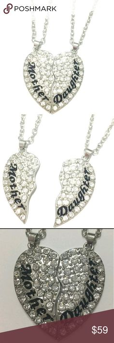 "💖Mother Daughter ""Besties"" Necklace Set!💖 💖Mother's Day is right around the corner! These beautiful sterling silver plated Mother Daughter ""besties"" necklaces are a perfect gift idea!! Comes with 2 necklaces @ a killer price!💖 October Love Jewelry Necklaces"